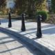 Bollards on footpath street furniture